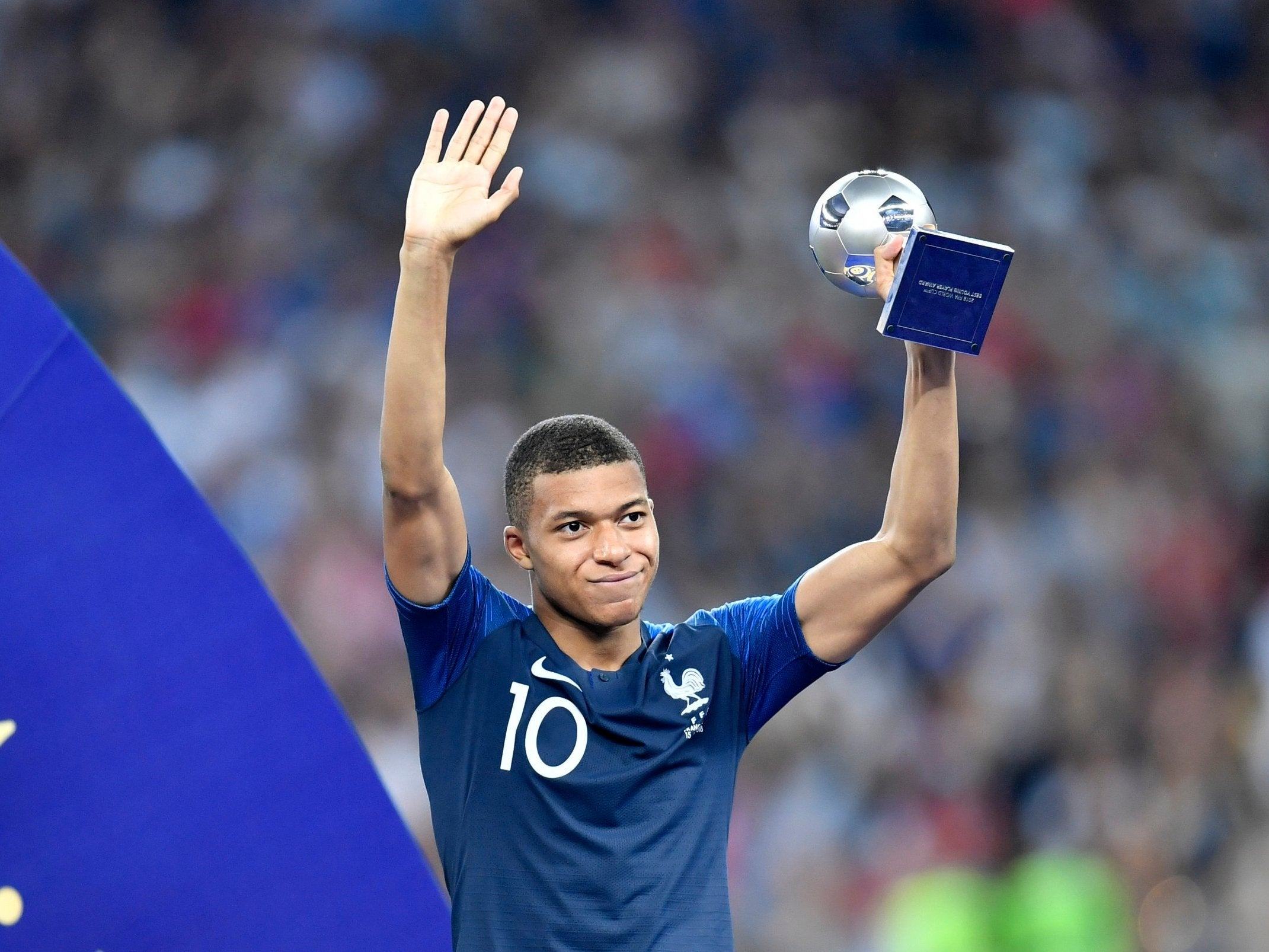 Image result for mbappe world cup 2018 award