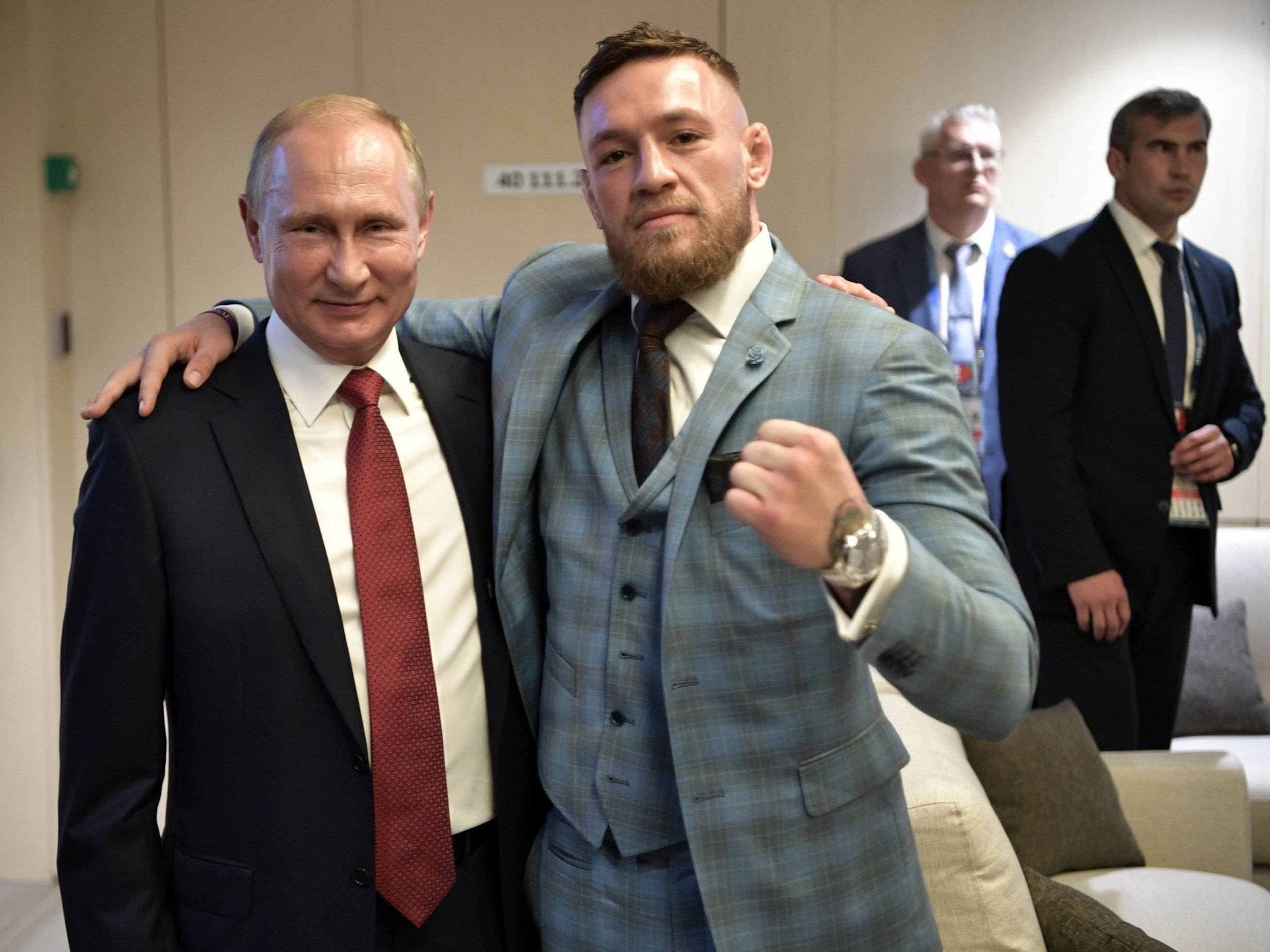 World Cup final 2018: Conor McGregor hails Russia president Vladimir Putin as 'one of the greatest leaders of our time'