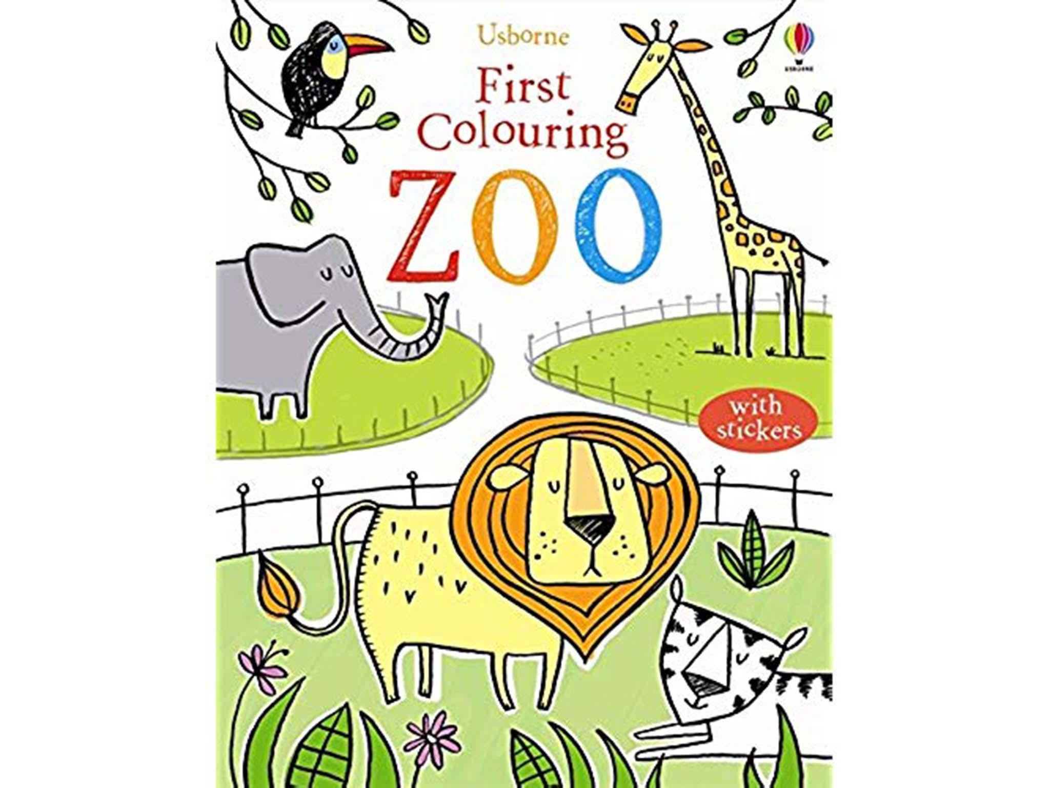 10 Best Colouring Books For Kids The Independent Bright Baby First 100 Numbers A Slim Volume With Seven Spreads Of Crowd Pleasing Animal Illustrations Very Young Artists As Soon They Can Hold Crayon Up To About Three