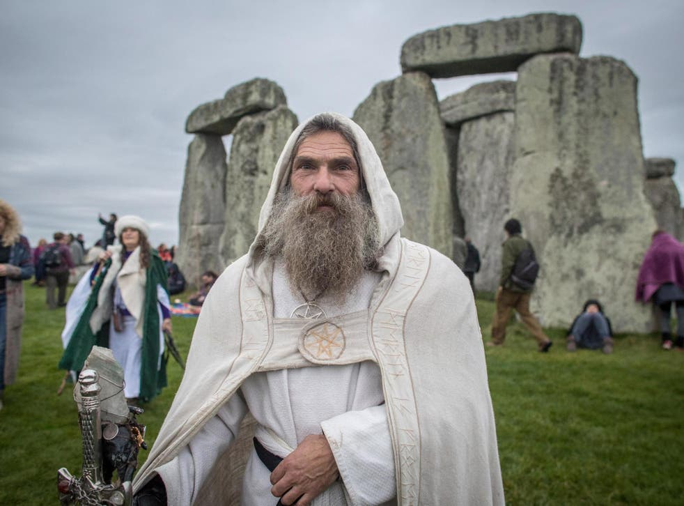 A druid at Stonehenge: the petition calls for pagans to be allowed on to the prime-time Radio 4 slot