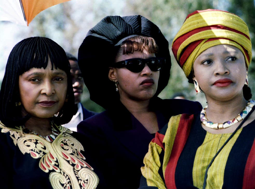 Winnie Mandela with daughters Zenani (centre) and Zindzi (right). Mandela's letters reveal stoicism and the belief that change will come