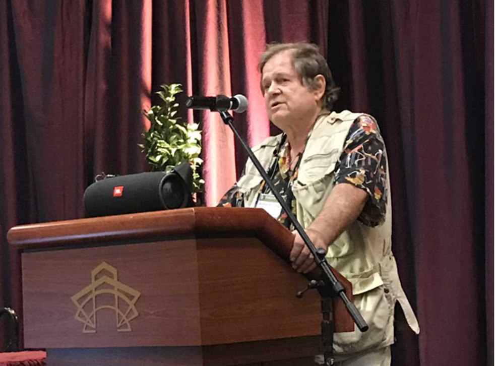 Renowned turtle expert Richard Vogt is under fire for his inclusion of racy photographs in a presentation to the Herpetologists' League