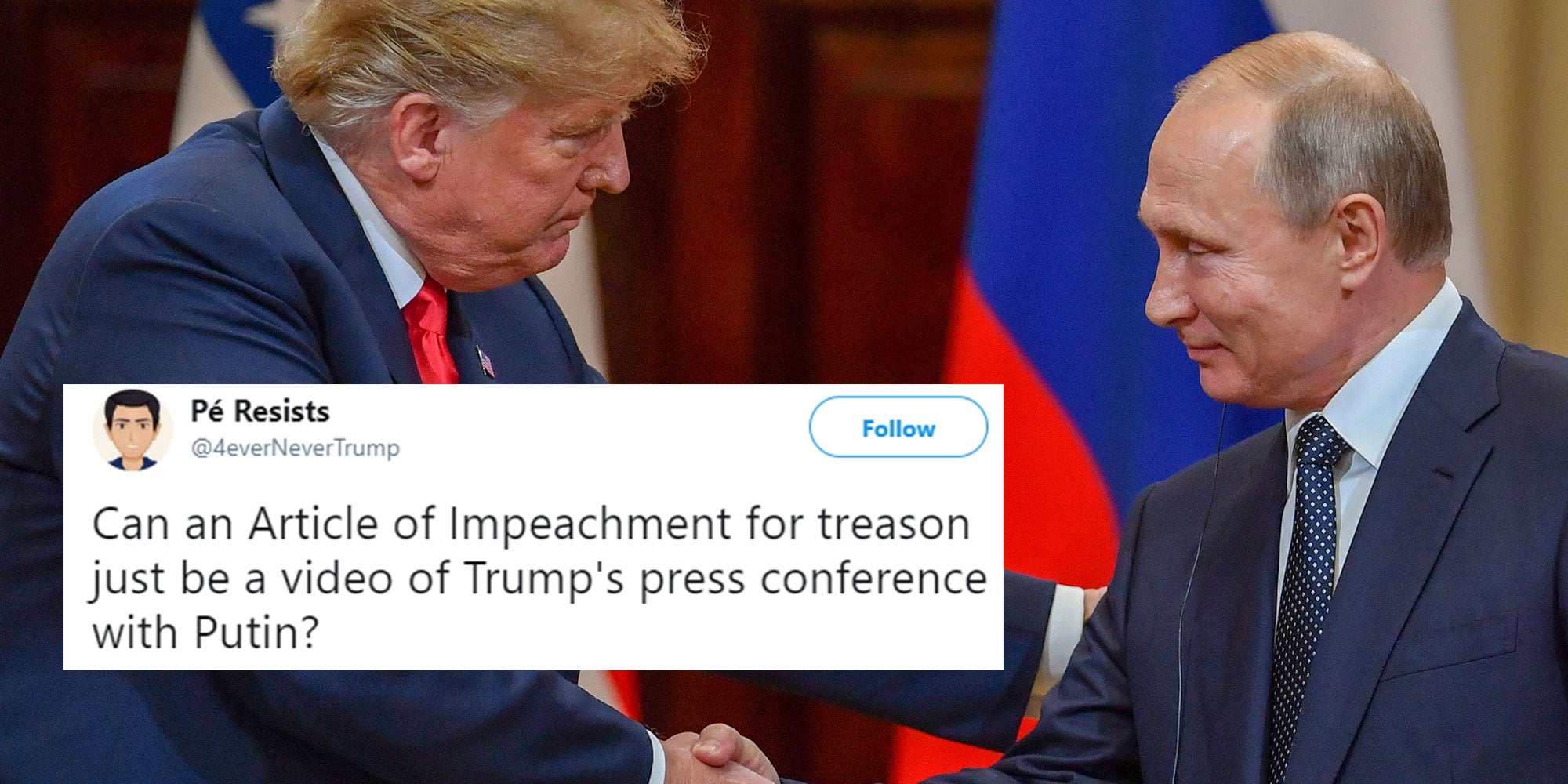 Trump Was Accused Of Treason After Putin Summit, But At