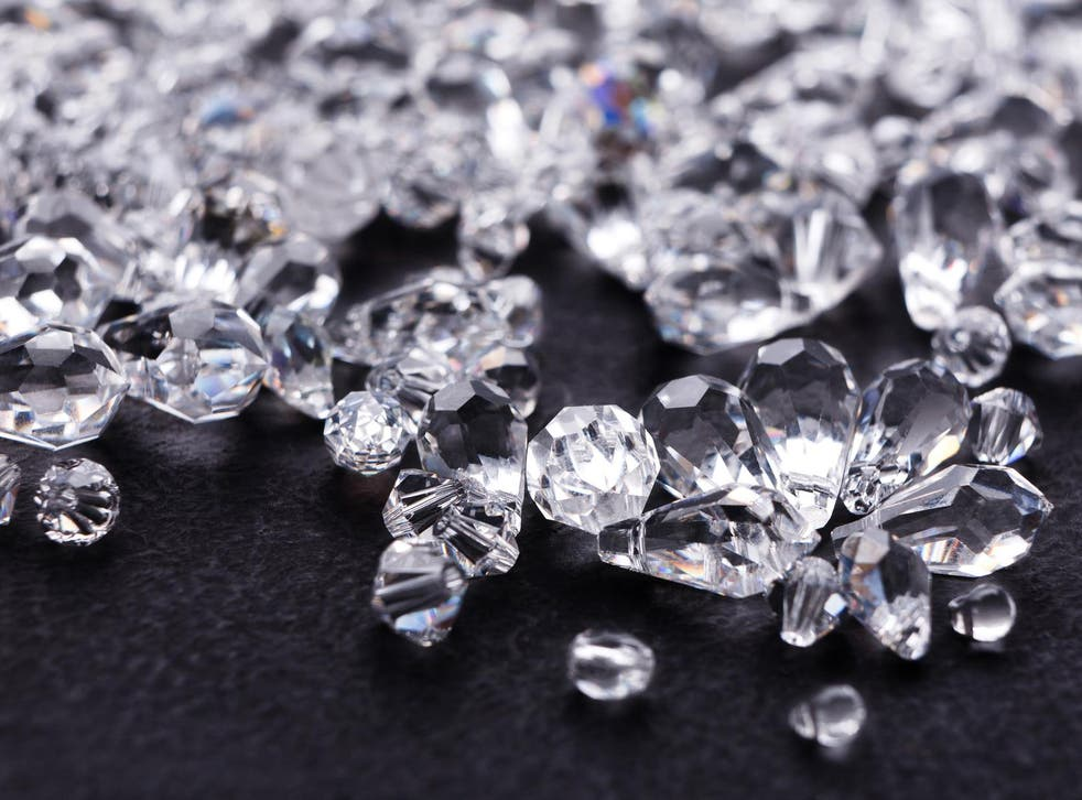 A huge cache of diamonds appears to be buried at least 100 miles below Earth's surface