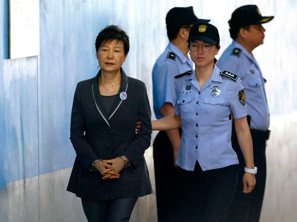 Image result for Former S'Korean President Park to Spend 25years in Jail