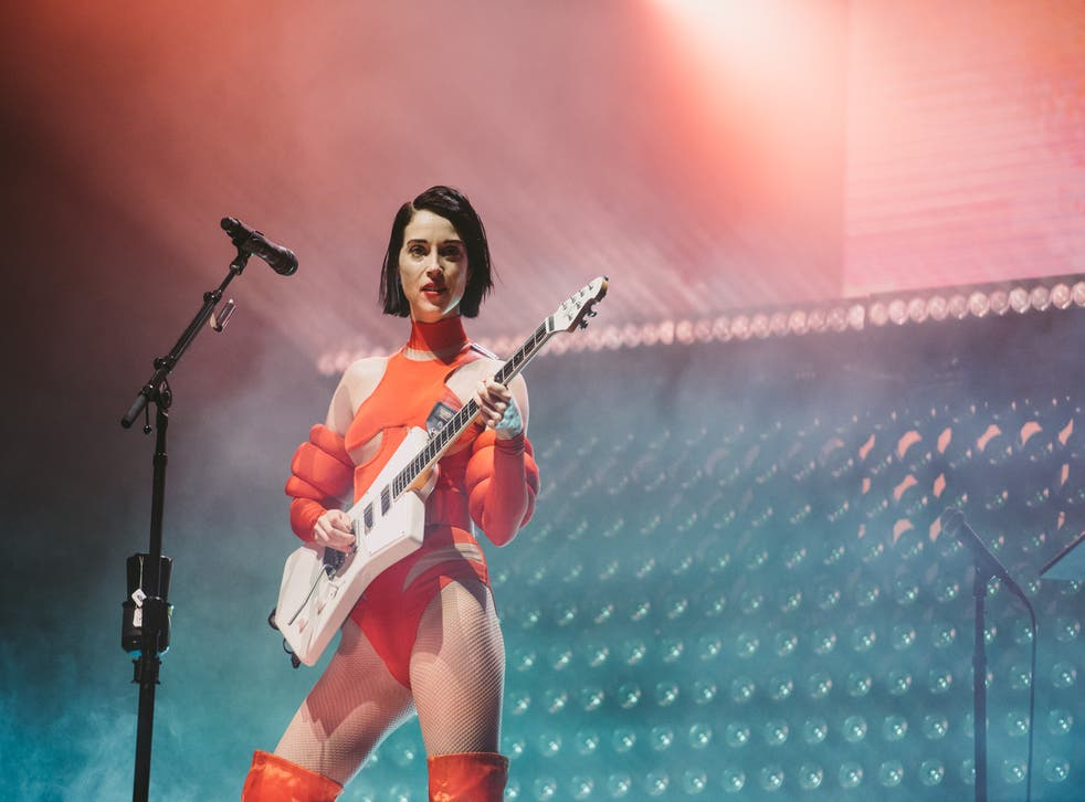 St Vincent performs at Pohoda Festival