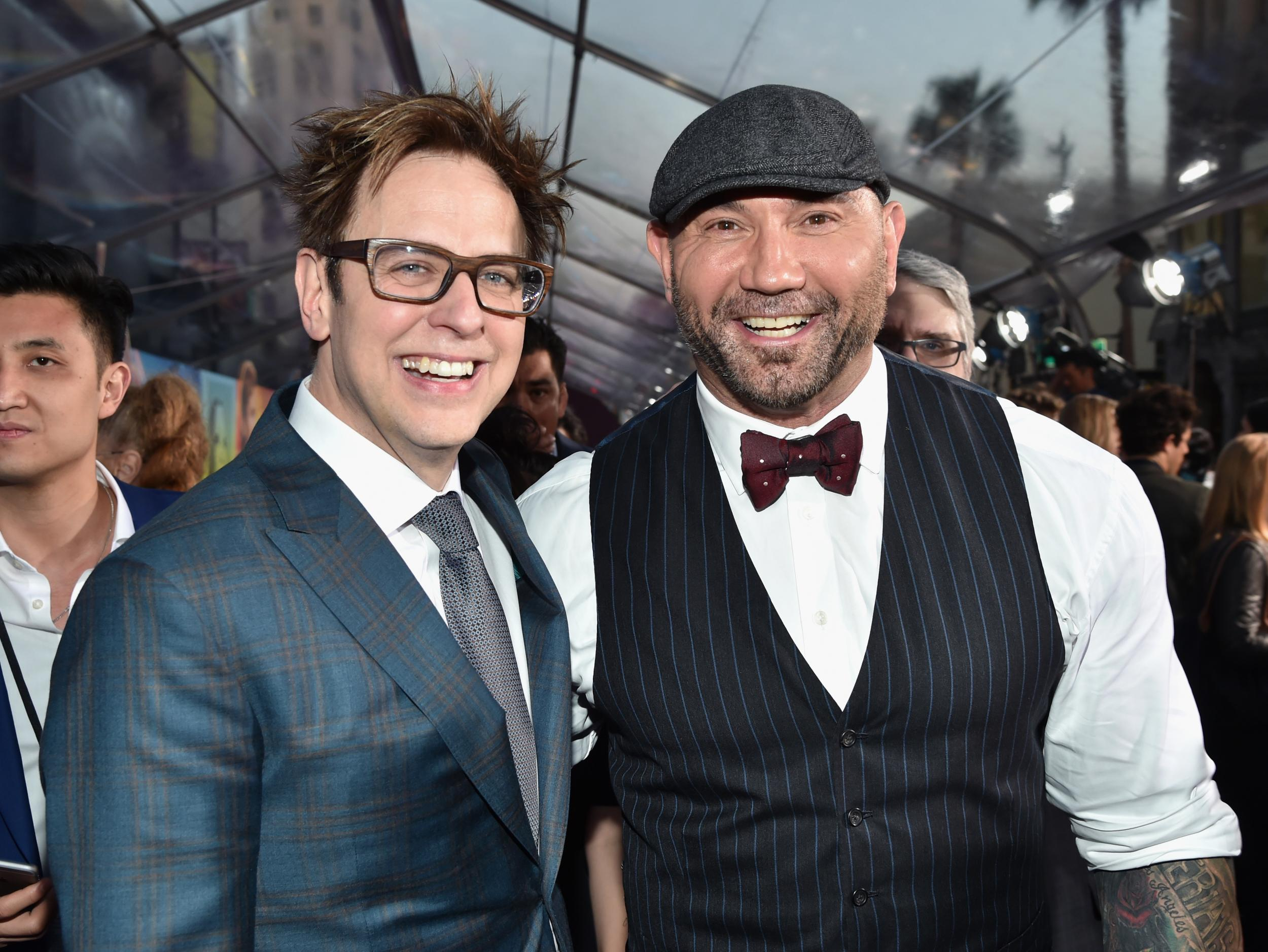 Dave Bautista Thanks Disney For Removing James Gunn From Guardians Of The Galaxy  The Independent