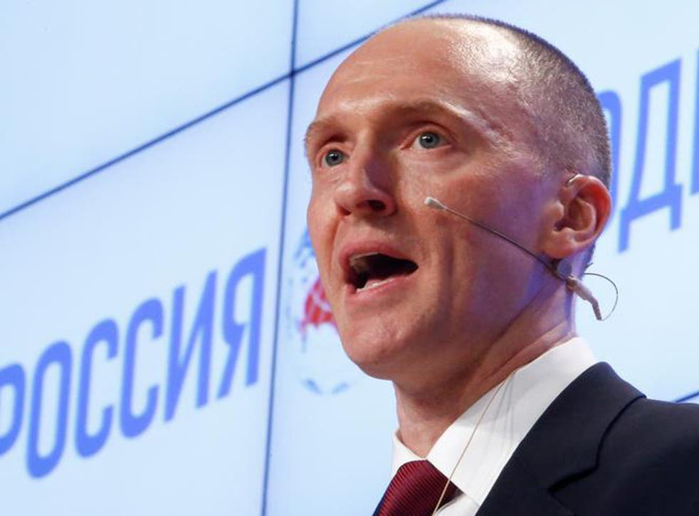 The FBI documents said Trump's former campaign adviser Carter Page was a target of Russian government recruitment