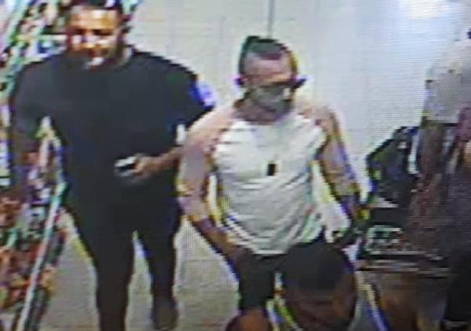 Police issued this image of three men they would like to speak to about the suspected acid attack.