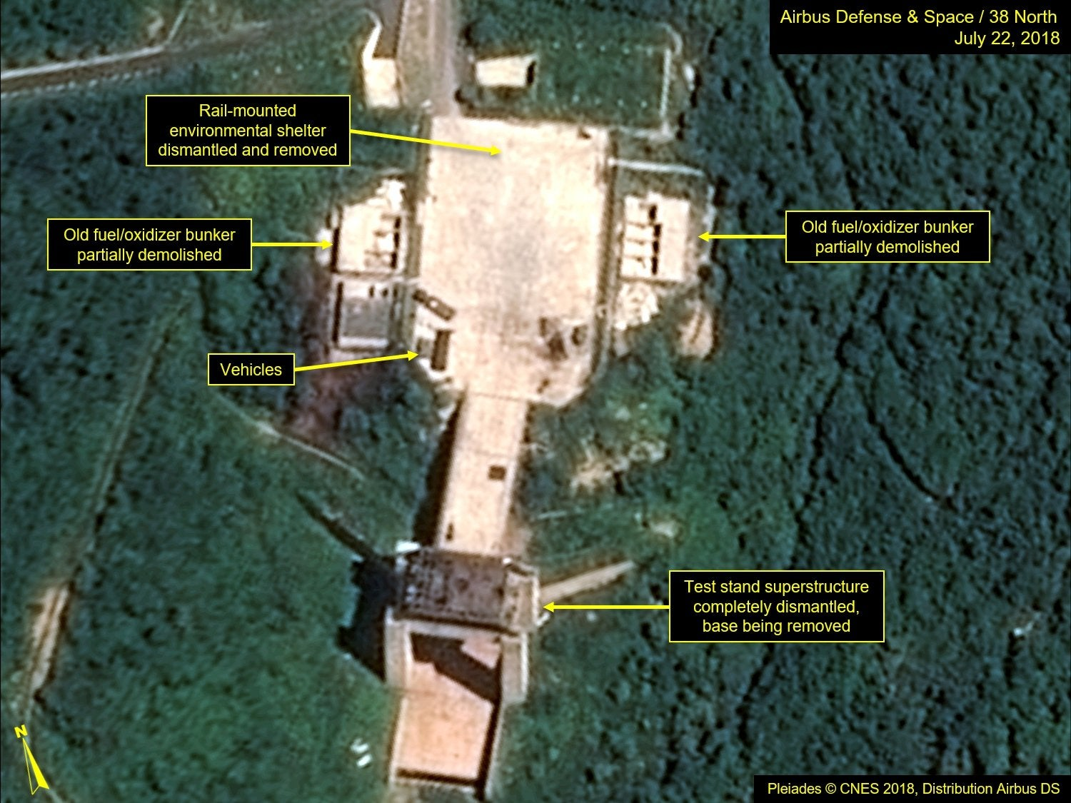 North Korea 'dismantling missile site' in first steps since Trump-Kim summit, satellite images suggest