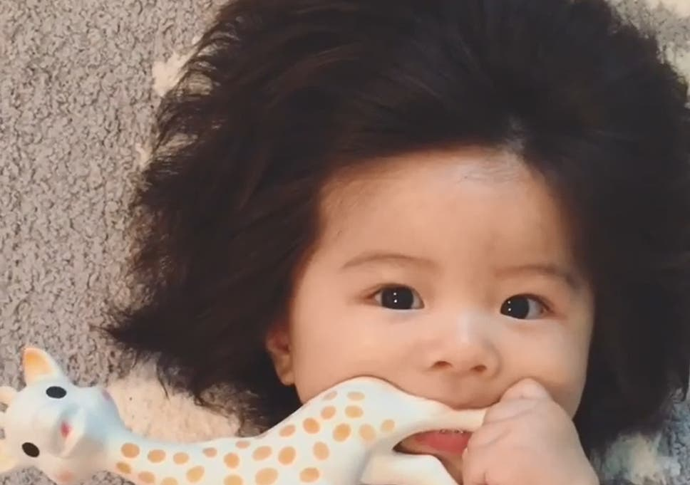 Baby Born With Full Head Of Hair Becomes Instagram Sensation The