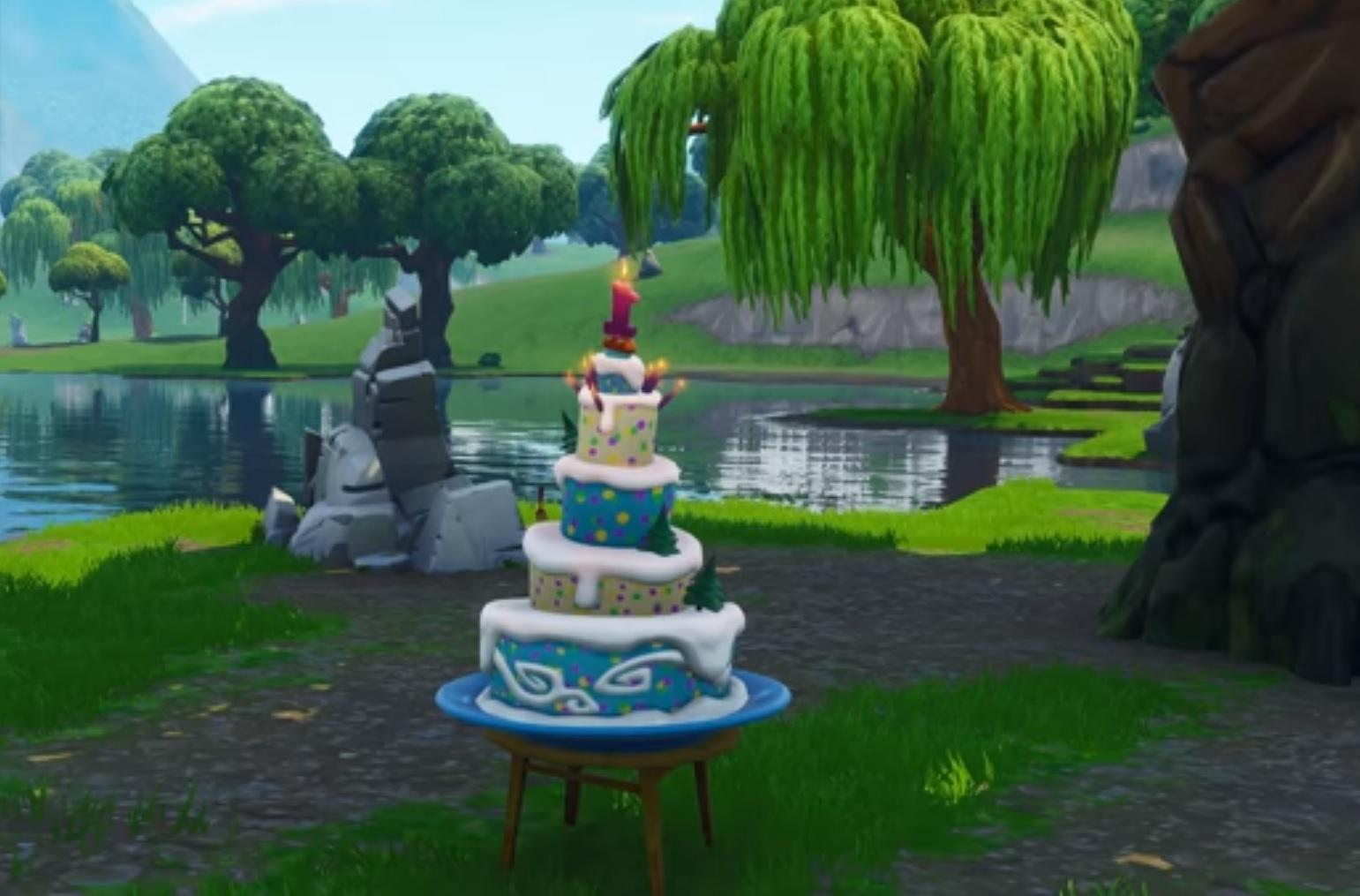 Fortnite Birthday Challenges Sees Game Celebrate Anniversary With Cakes In Various Locations The Independent The Independent