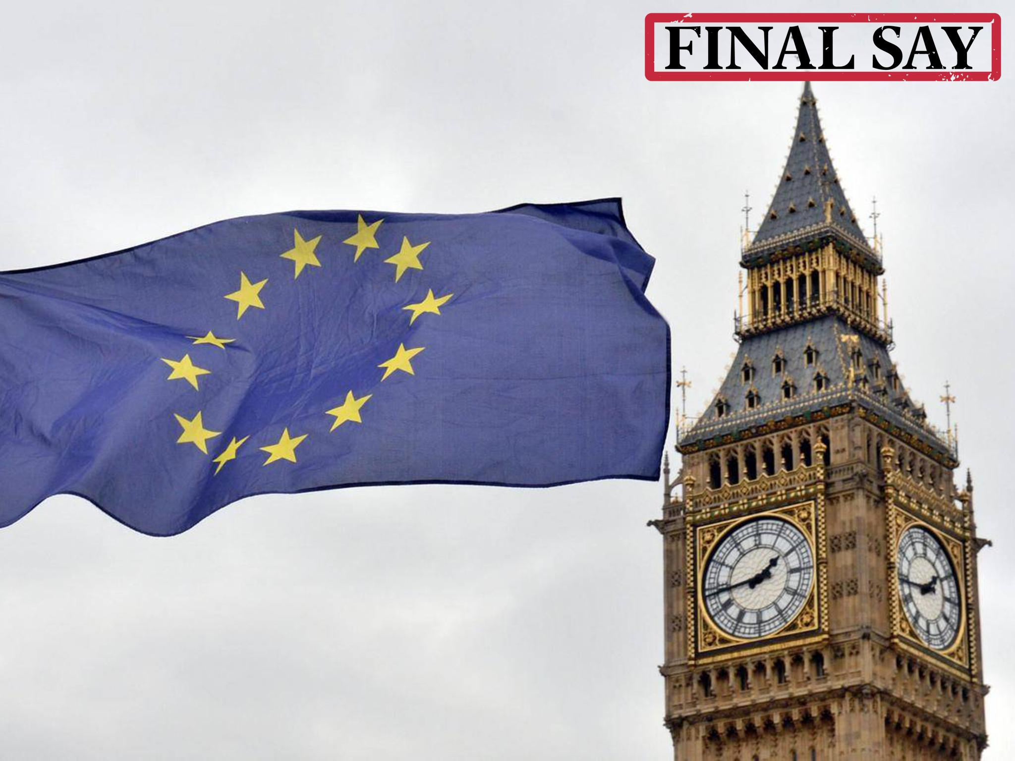 The referendum gave sovereignty to the British people, so now they deserve a final say on the Brexit deal