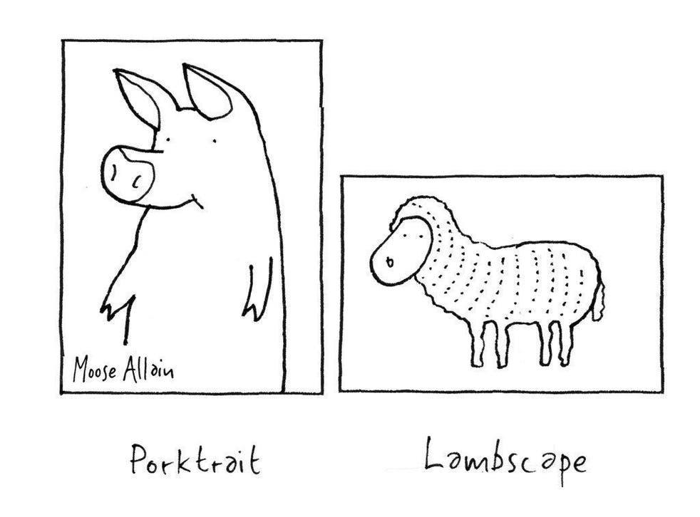 Drawings by Moose Allain