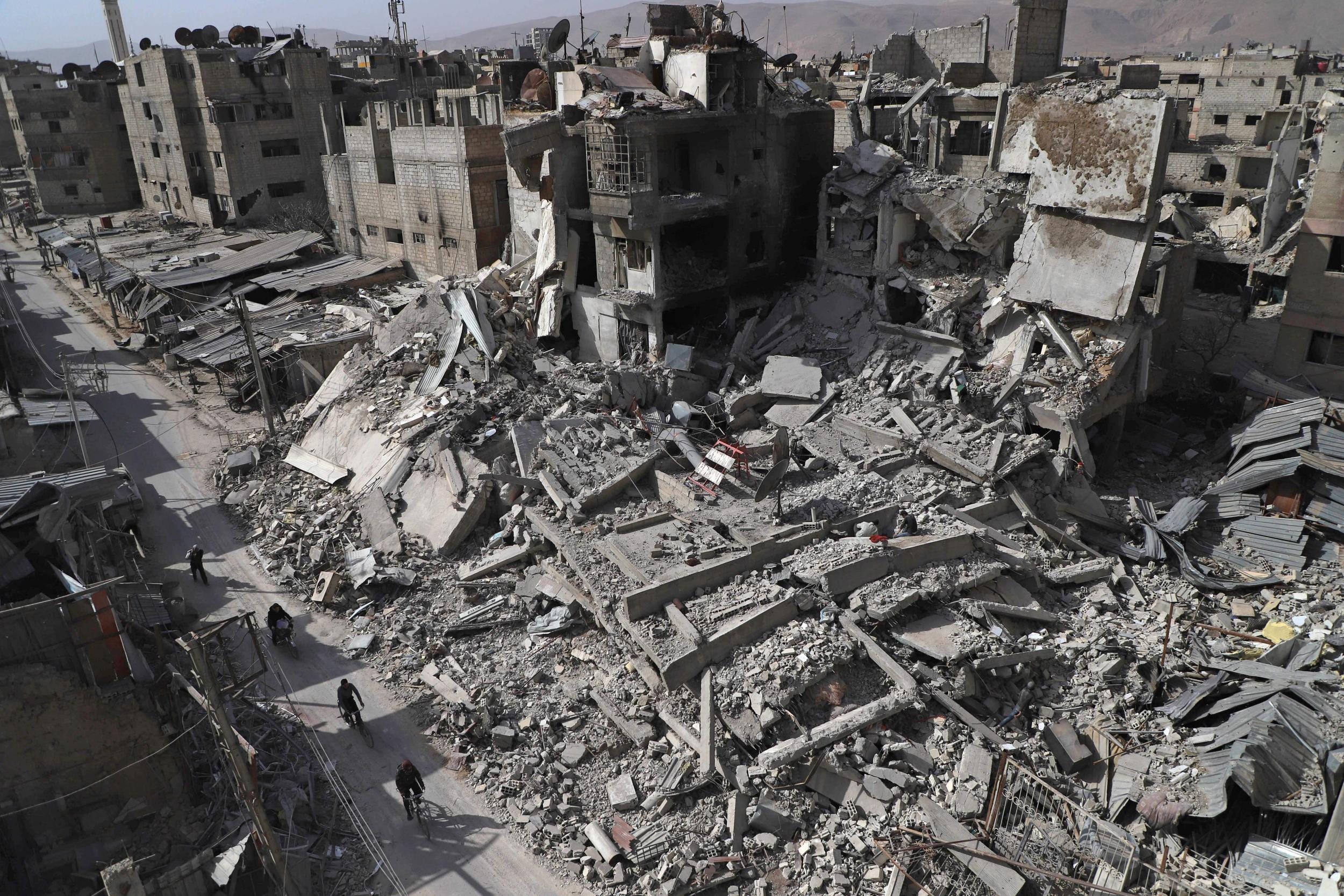 Syria conflict: 34% rise in civilian deaths caused by Russian airstrikes, report finds