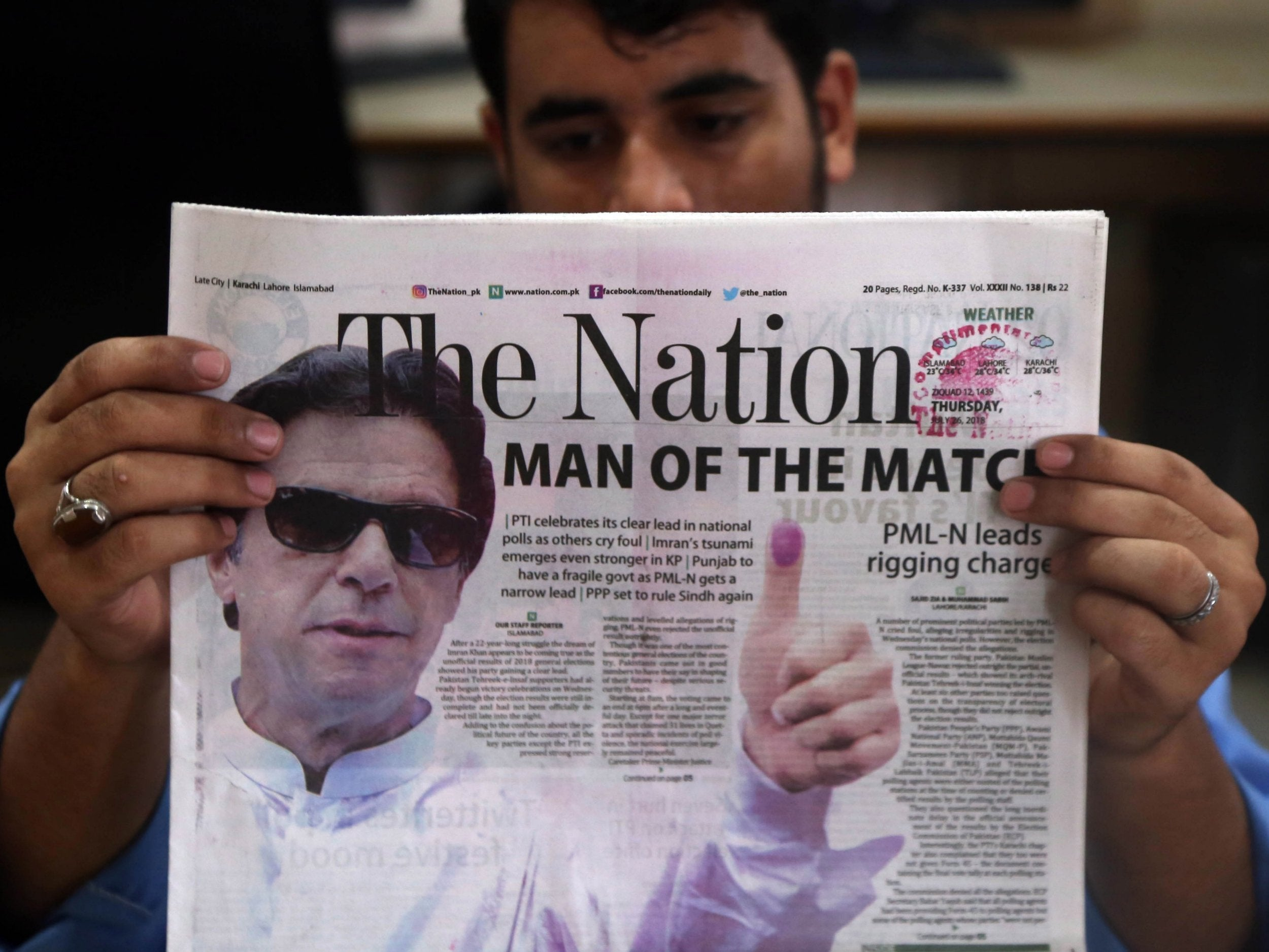 Pakistan Election Imran Khan Stands On Brink Of Victory As