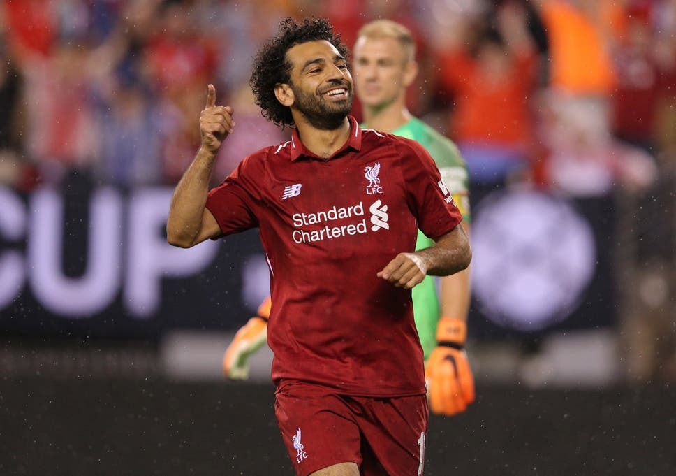 Mohamed Salah celebrates after scoring for Liverpool 35 seconds after  coming on 5d6612949