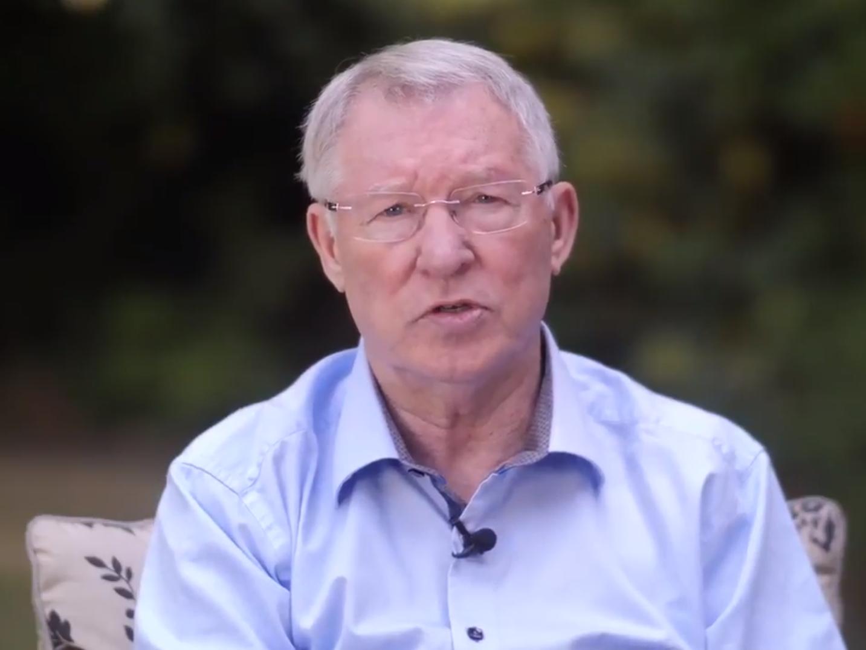 Sir Alex Ferguson speaks publicly for first time since brain haemorrhage