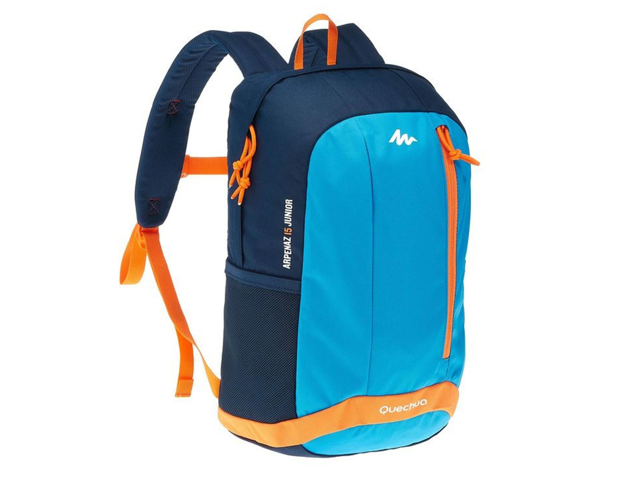 c5c42263d75 The Junior Arpenaz backpack from Decathlon s Quechua brand went down well  with the eight to ten year old testers who liked its bright colours and the  way it ...