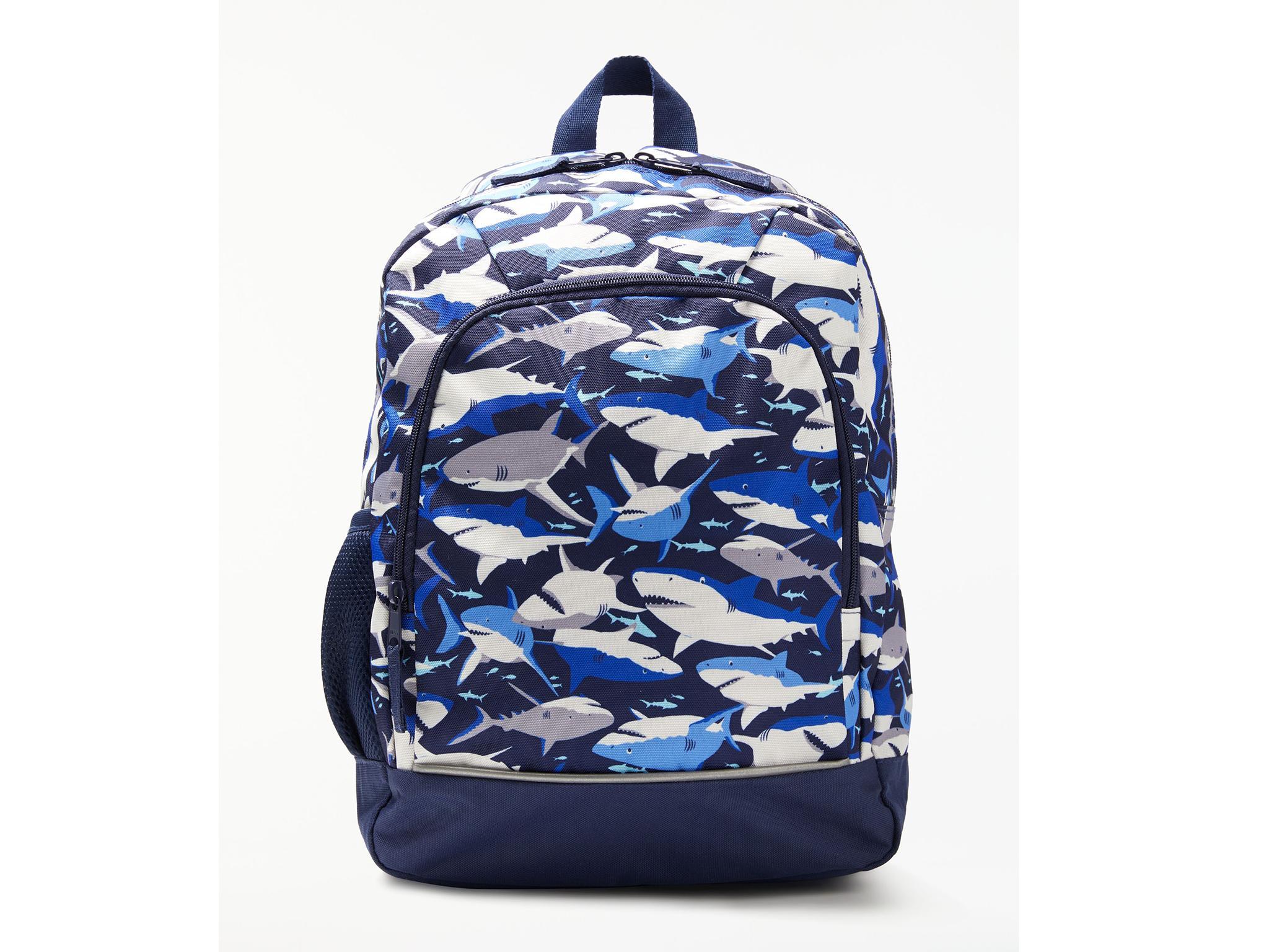 John Lewis Children s Shark Print Backpack  £20, John Lewis 90bb5a7afe
