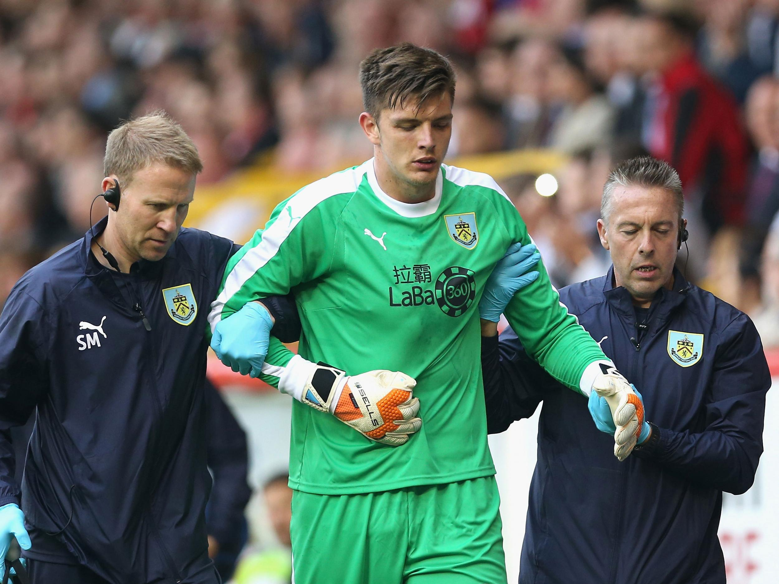Burnley manager Sean Dyche fears Nick Pope shoulder injury is serious