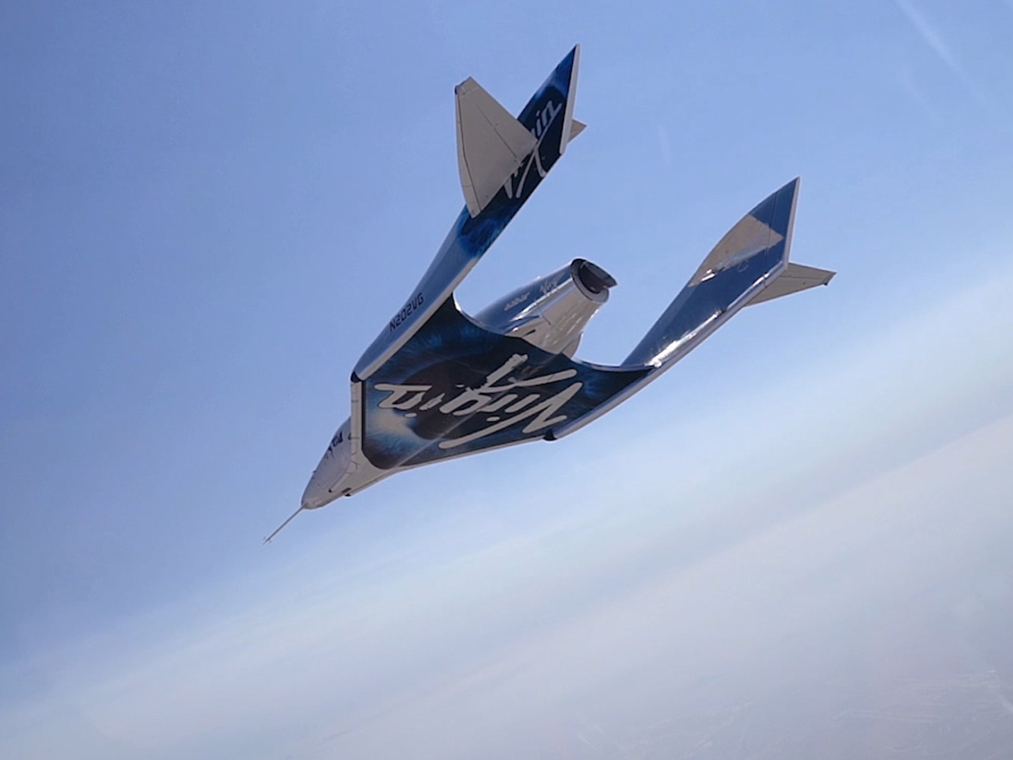 Virgin Galactic pilot touches edge of space in new video