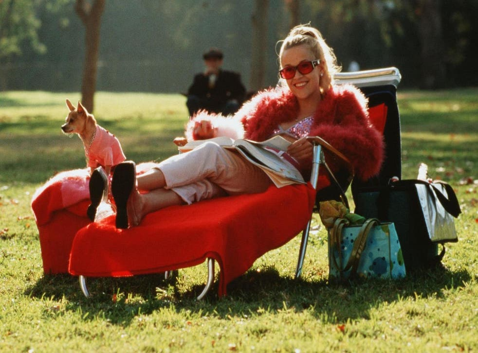 Reese Witherspoon and Moonie in 'Legally Blonde', 2001