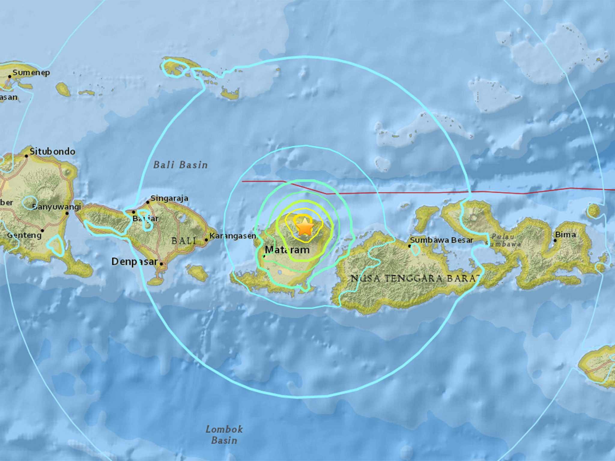 Indonesia earthquake: Powerful 6.4-magnitude quake strikes Lombok island