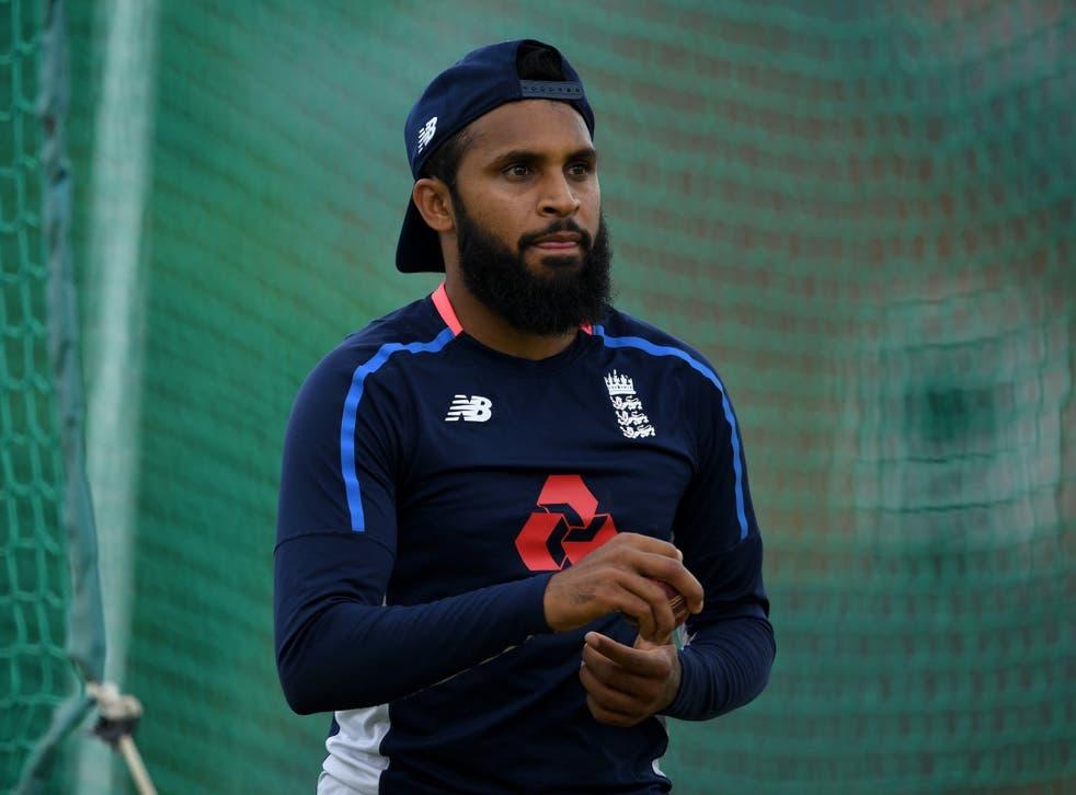 Adil Rashid of England waits to bowl during a nets session at Edgbaston