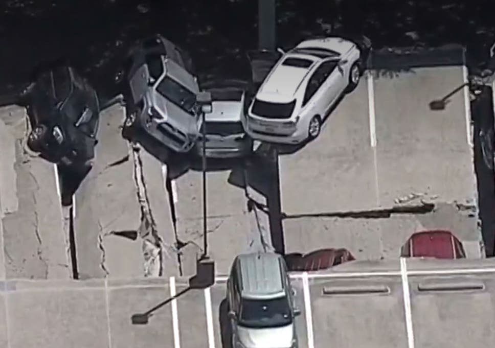 Texas Parking Garage Collapse Police Search Multistorey Carpark In
