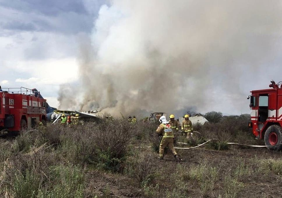 Trainee pilot was flying crashed Aeromexico plane, says