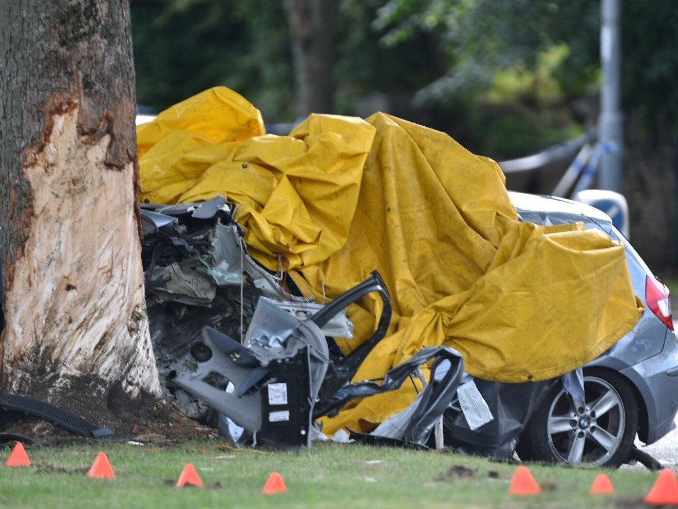 Bradford car crash: Four men being followed by unmarked