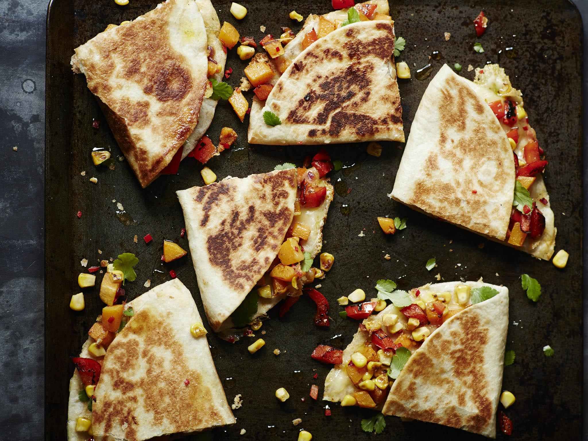 How to make vegetable quesadillas 1
