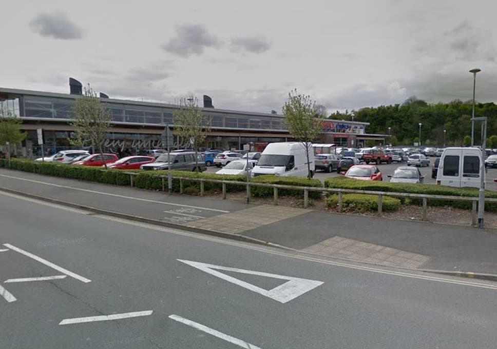 The victim was stabbed in the Tesco car park