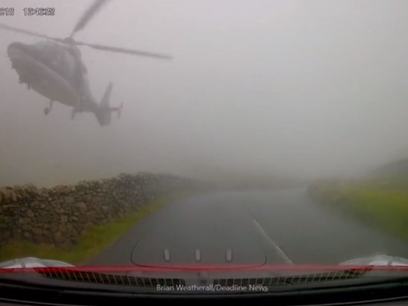 'SAS' helicopter leaves driver startled after coming within feet of road