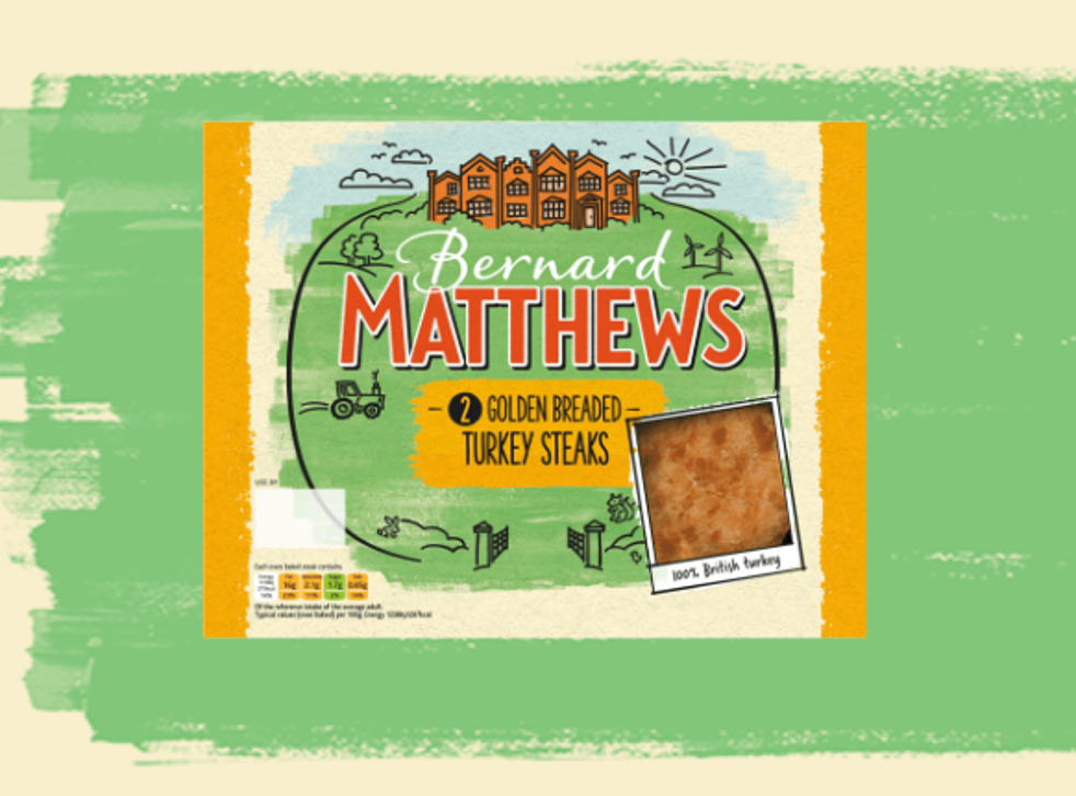 Bernard Matthews turkey and chicken products, as seen on the company website, depict the outdoors with trees, plants and a tractor