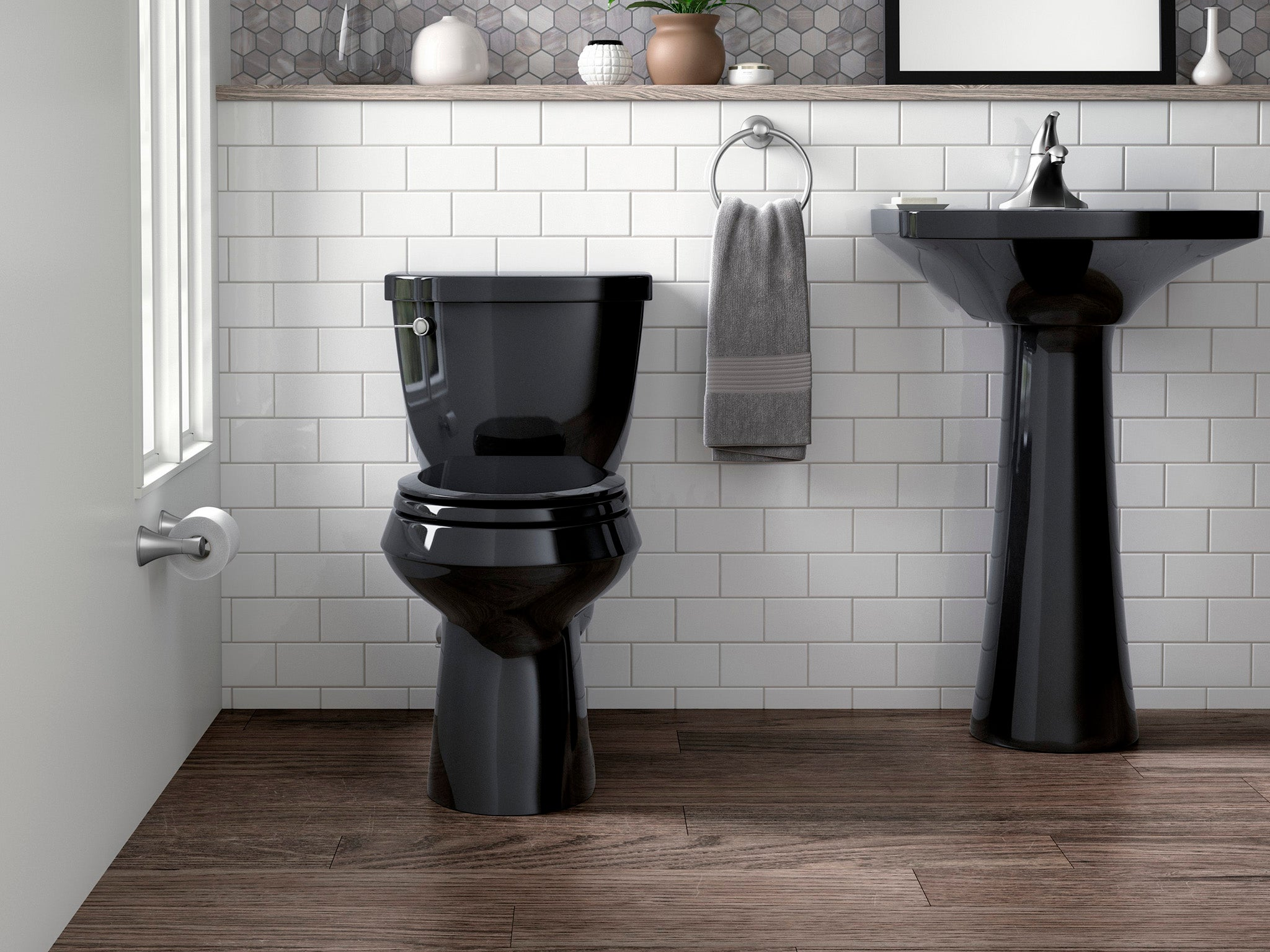The black toilet: An unconventional bathroom accessory that\'s back ...