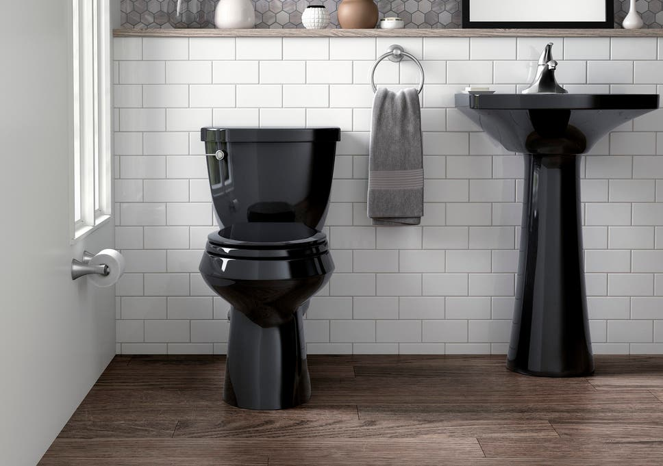 The black toilet: An unconventional bathroom accessory that's back on door design, tile design, restroom design, foyer design, bathtub design, interior design, kitchen design, pantry design, closet design, bedroom design, staircase design, nursery design, shower design, washroom design, toilet design, basement design, small bath design, exterior design, room design, garage design,