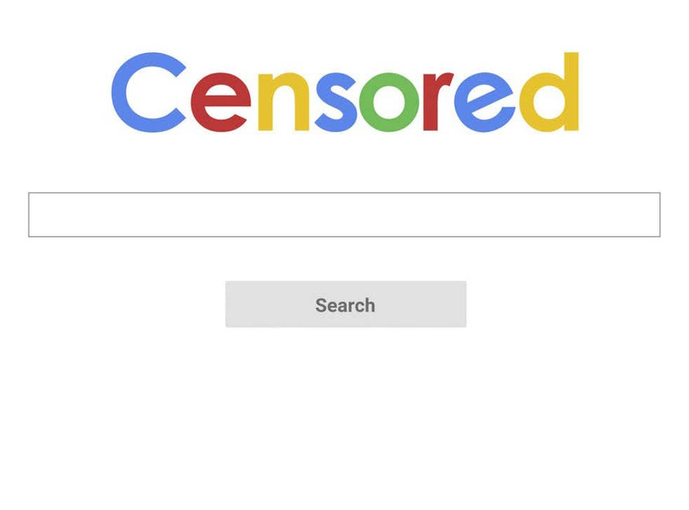 The search engine will turn up no results depicting Chinese state brutality
