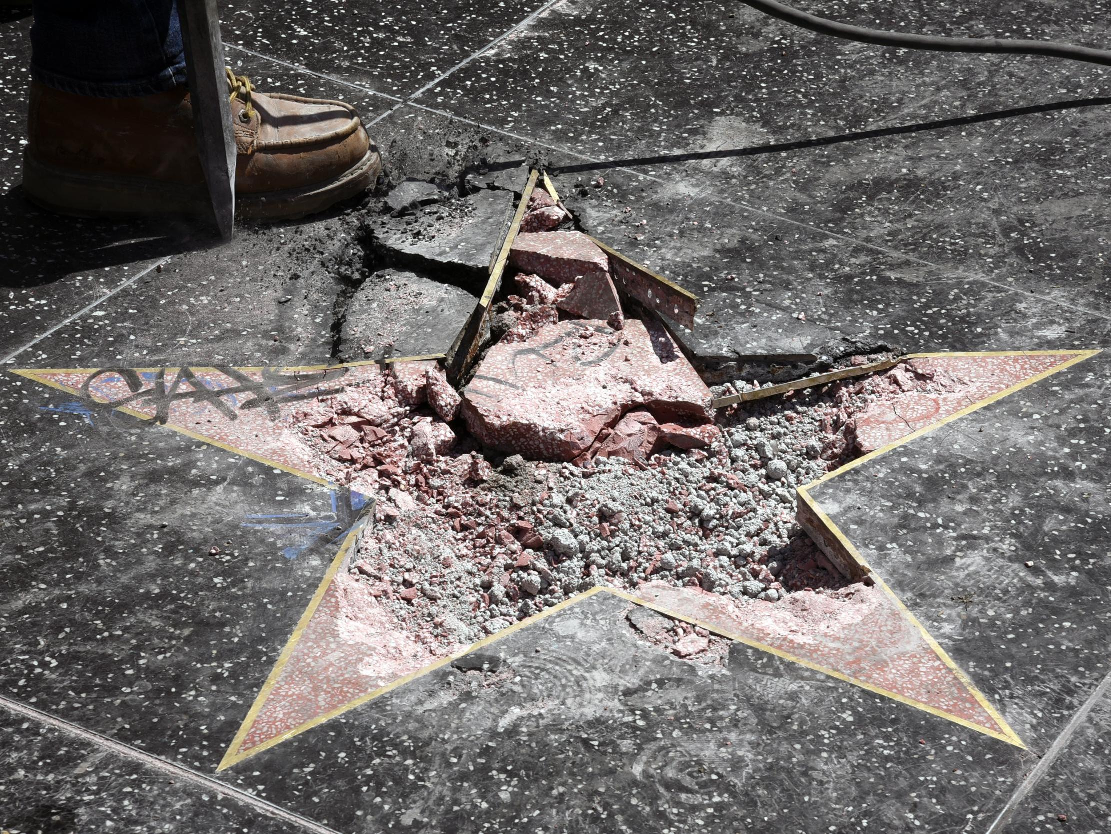 Trump's star on the Walk of Fame to be permanently removed after