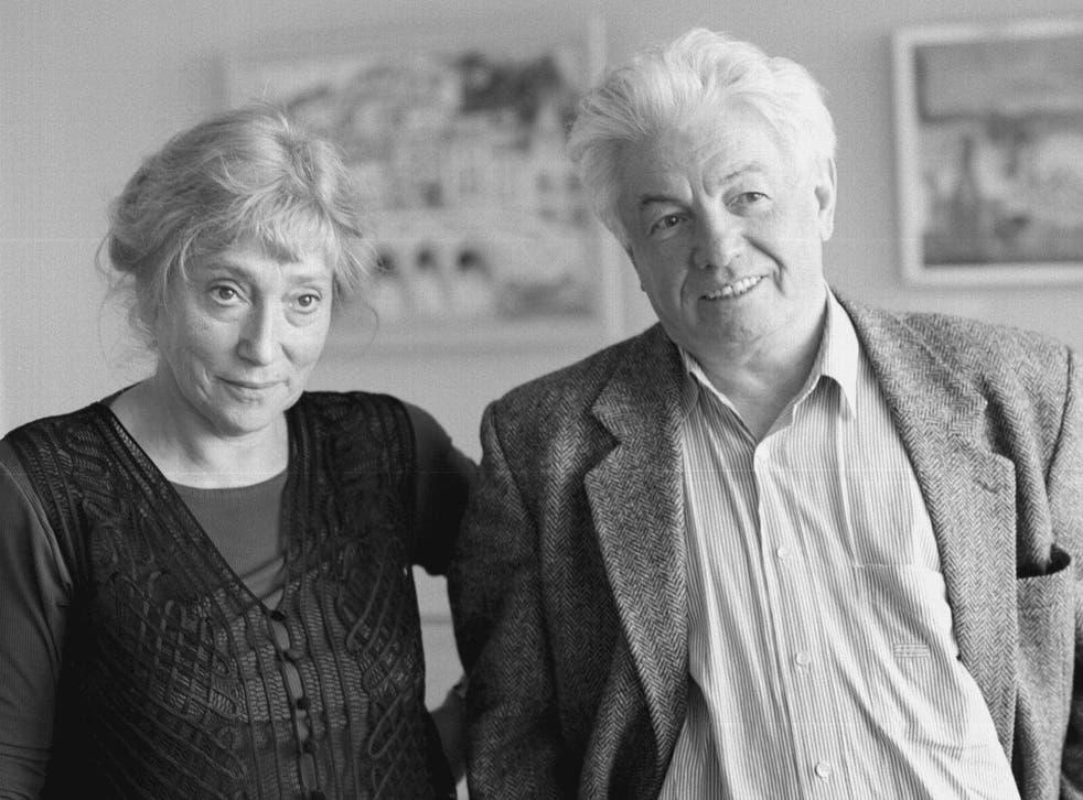 Vladimir Voinovich with his second wife, Irina Braude, in 1997