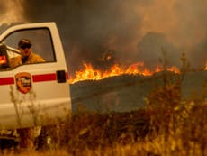 California wildfire expected to burn for rest of month
