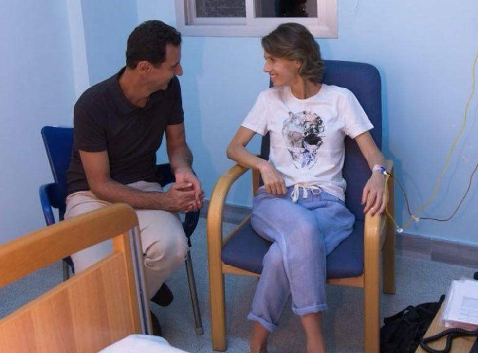 Sana, the Syrian state news wire, said Ms Assad is being treated at a military hospital in Damascus
