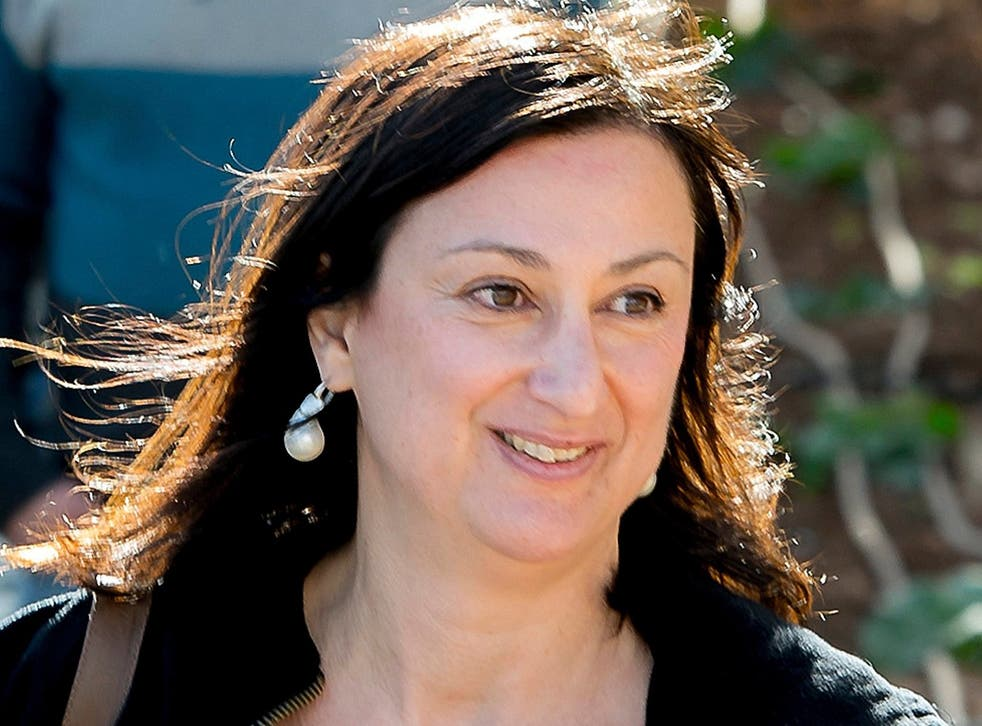 Ms Caruana Galizia was killed when a bomb destroyed her car in October. She was 53