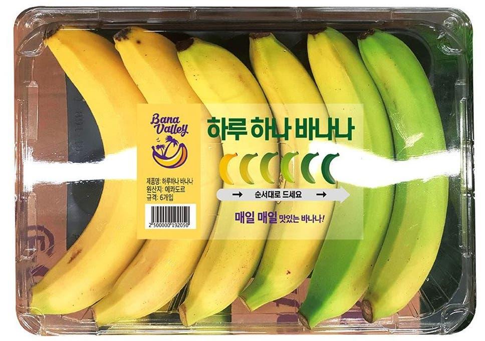 Korean store unveils 'genius' banana packaging to avoid overripe
