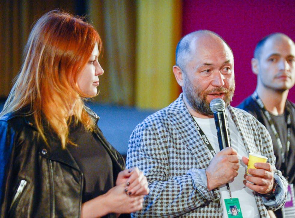 Screenwriter Olga Kharina and producer Timur Bekmambetov promoting 'Unfriended: Dark Web'
