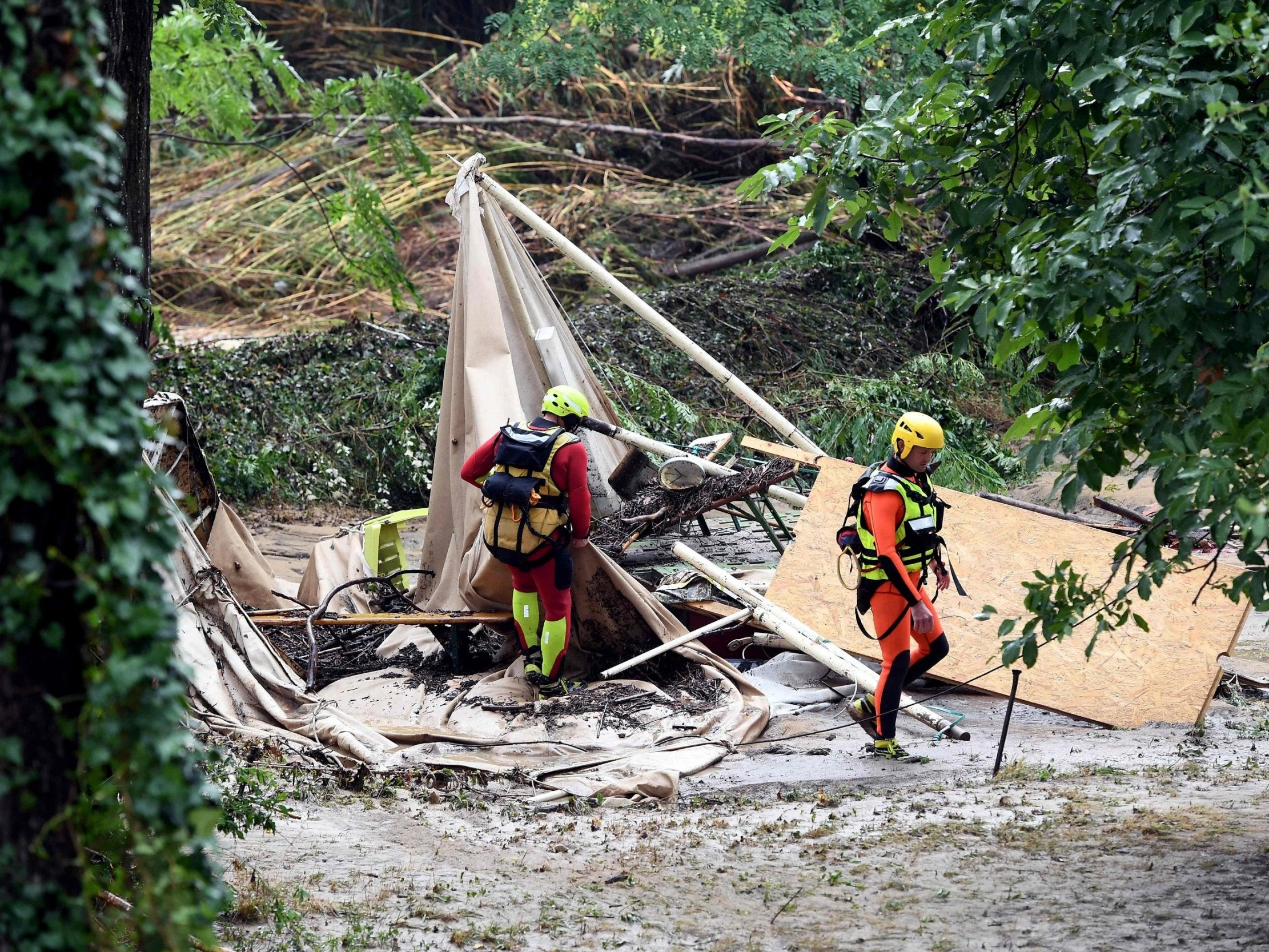 France floods: Pensioner swept away and 1,600 people evacuated by helicopters and rescuers from Gard campsites