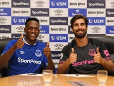 Everton sign Bernard and £27m Mina as Andre Gomes joins on loan