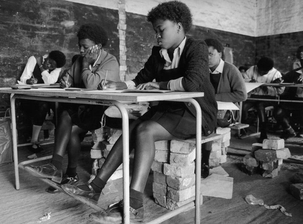School at Orange Farm, near Soweto: one of the ANC's policies is to improve education for black South African children
