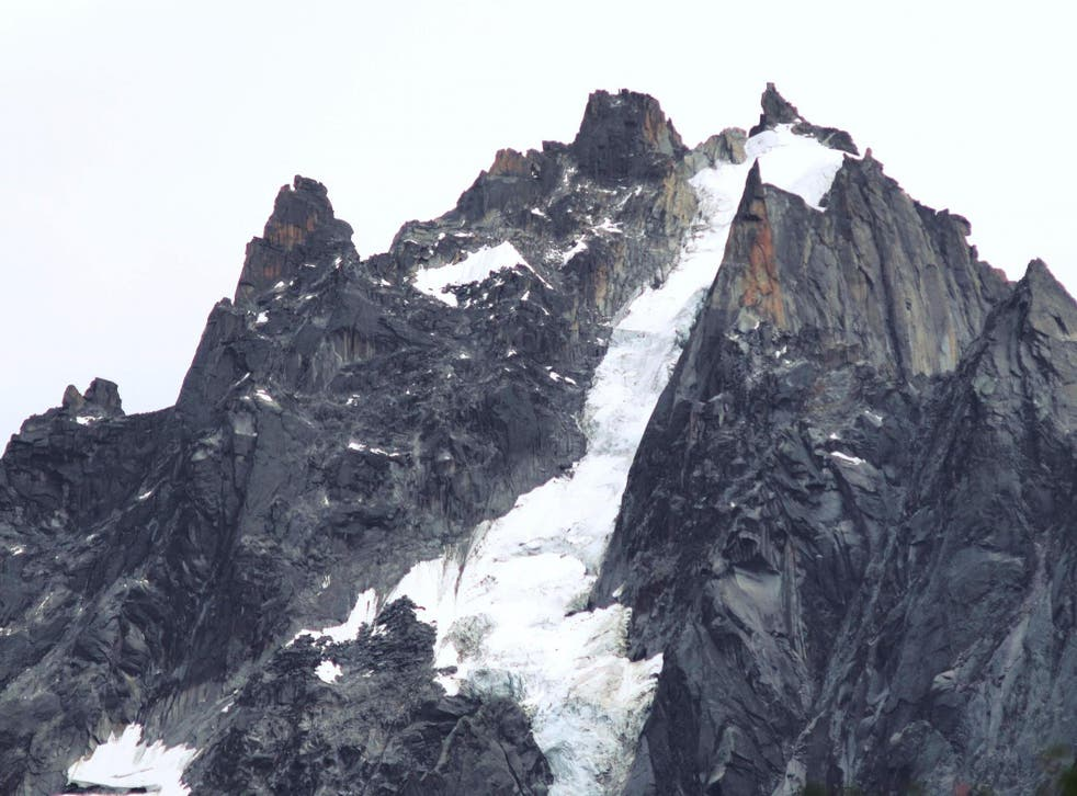 Rescuers had been searching the Mont Blanc massif since the climbers went missing on Tuesday